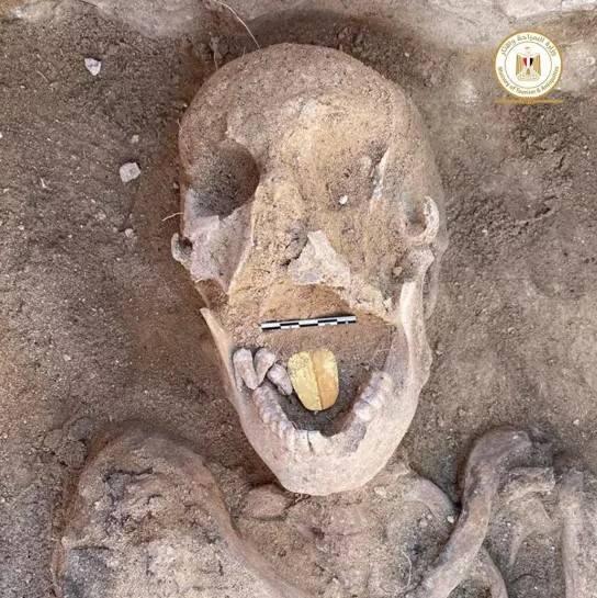 Esta momia de 2.000 años fue enterrada con una lengua de oro, probablemente para ayudar al difunto a hablar con los dioses en el más allá