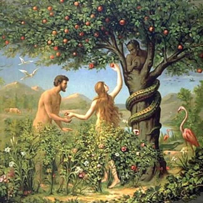Adán y Eva árbol de la vida