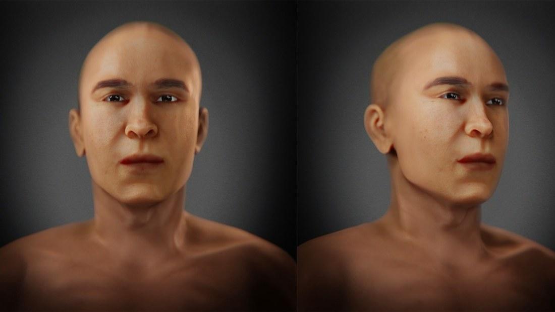 Este sería el rostro de Akenatón papá de Tutankamón