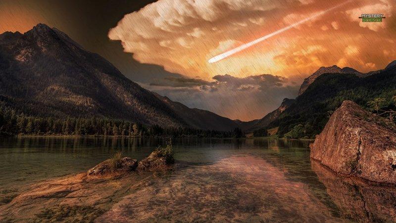 impacto de un cometa hace miles de años