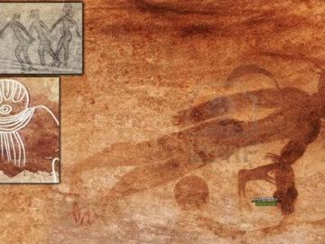 Pinturas rupestres de antiguos astronautas halladas en cuevas del Sahara