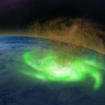 Detectan por primera vez un 'huracán espacial' sobre el Polo Norte