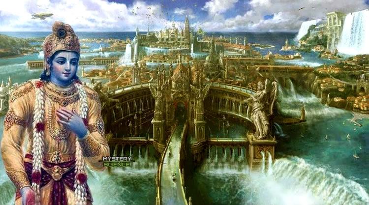 Krishna ordenó la construcción de la ciudad de Dwarka