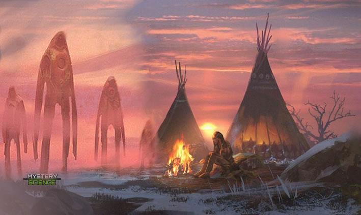 Gigantes tribus nativas americanas