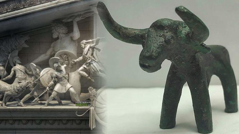 Hallan toro bronce de 3.000 años en el lugar de los antiguos Juegos Olímpicos de Grecia