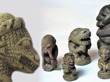 Figuras de una cultura desconocida con extraños rasgos fueron halladas en África