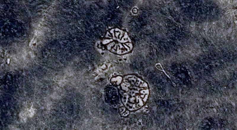 Las dos «ruedas» del Desierto Negro jordano