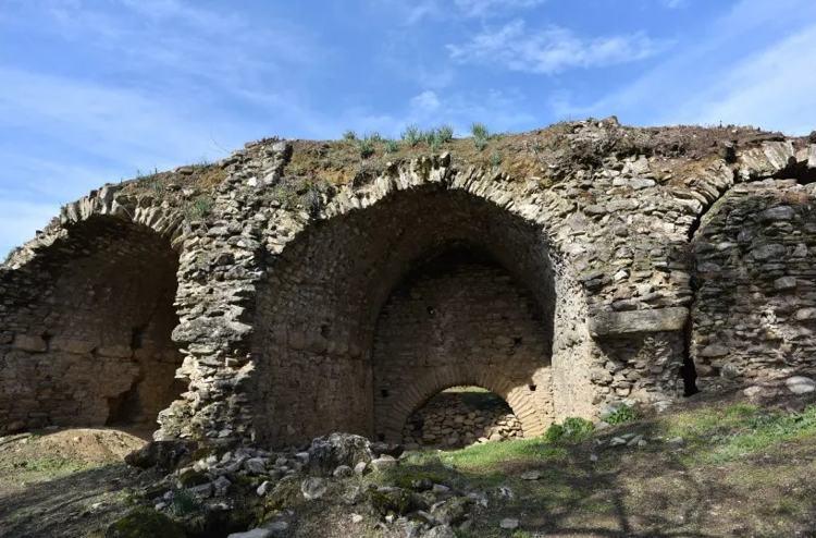 La arena, después de que los arqueólogos despejaran el sitio