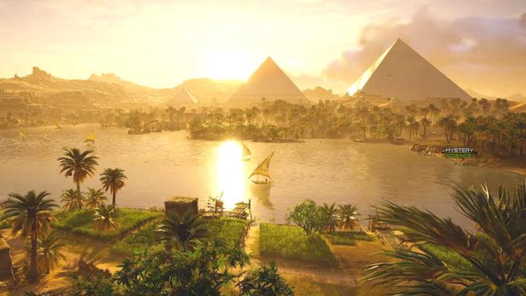 Como se veía la Gran Pirámide de Guiza en el año 2560 a. C