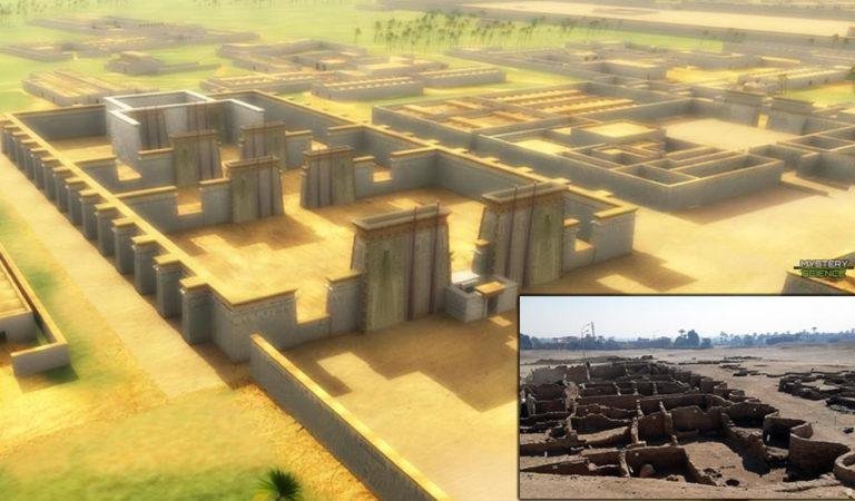 Encuentran bajo la arena una ciudad egipcia de hace 3.000 años