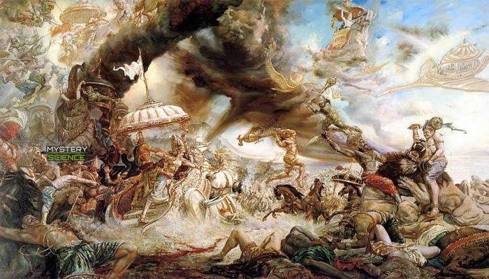 De acuerdo al Vigreda y al Mahabharata, una antigua guerra se llevó a cabo en la Tierra con civilizaciones previas a la humana. Crédito: ashtarcommandcrew.net
