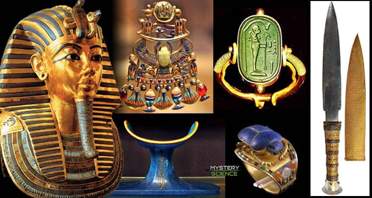 Algunos de los misteriosos artefactos con materiales no terrestres encontrados en la tumba del Rey Tut