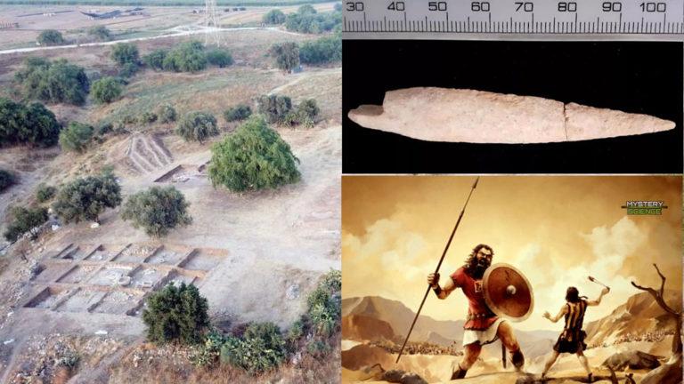 Hallan una punta de flecha en la ciudad natal de Goliat, usada en una batalla nombrada en la Biblia