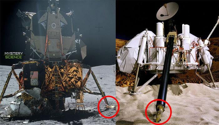 Expertos aeronáuticos han sugerido que la Cuña de Aiud se parece a los puntos de apoyo del Módulo Lunar y a la pata de la Sonda Viking