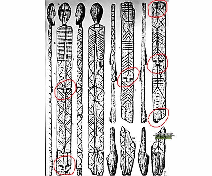 Códigos secretos cifrados en el ídolo de Shigir