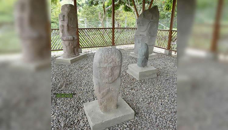 Estatuas encontradas enterradas en Tierradentro
