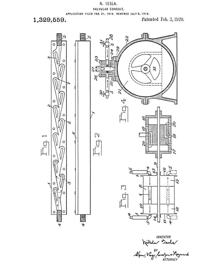 Válvula de Tesla patente