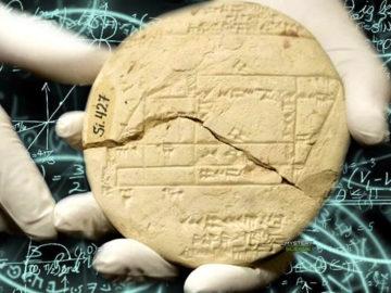 Encuentran tablilla babilónica con las operaciones de geometría más antiguas del mundo