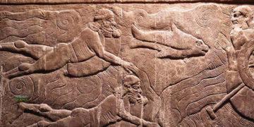 Relieves de casi 3.000 años muestran nadadores usando artefactos para bucear