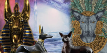 Anubis y Xólotl guardianes en la muerte y el más allá