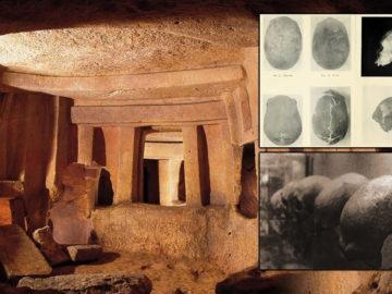 Enigmáticos cráneos alargados hallados en un templo subterráneo