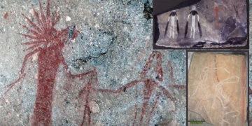 Arte rupestre de 5.000 años en Siberia representa humanoides y cuerpos celestes